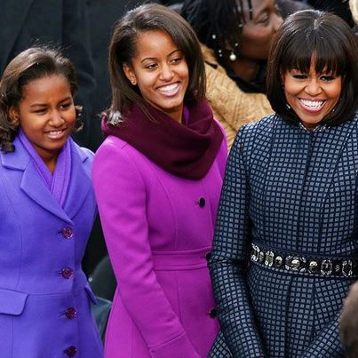 Photo: First Lady Michelle Obama's Thom Browne Coat and Dress Win Rave Reviews. Read more at http://blog.blacknews.com/2013/01/first-lady-michelle-obama-inauguration-thom-browne-coat-dress.html <-- view more pics